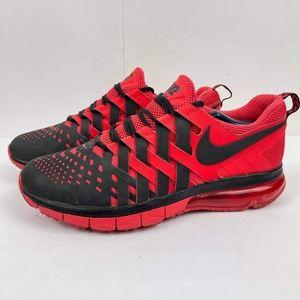 Nike Men's Fingertrap Air max Training US 12 Red/Black Running Athlete Sneakers